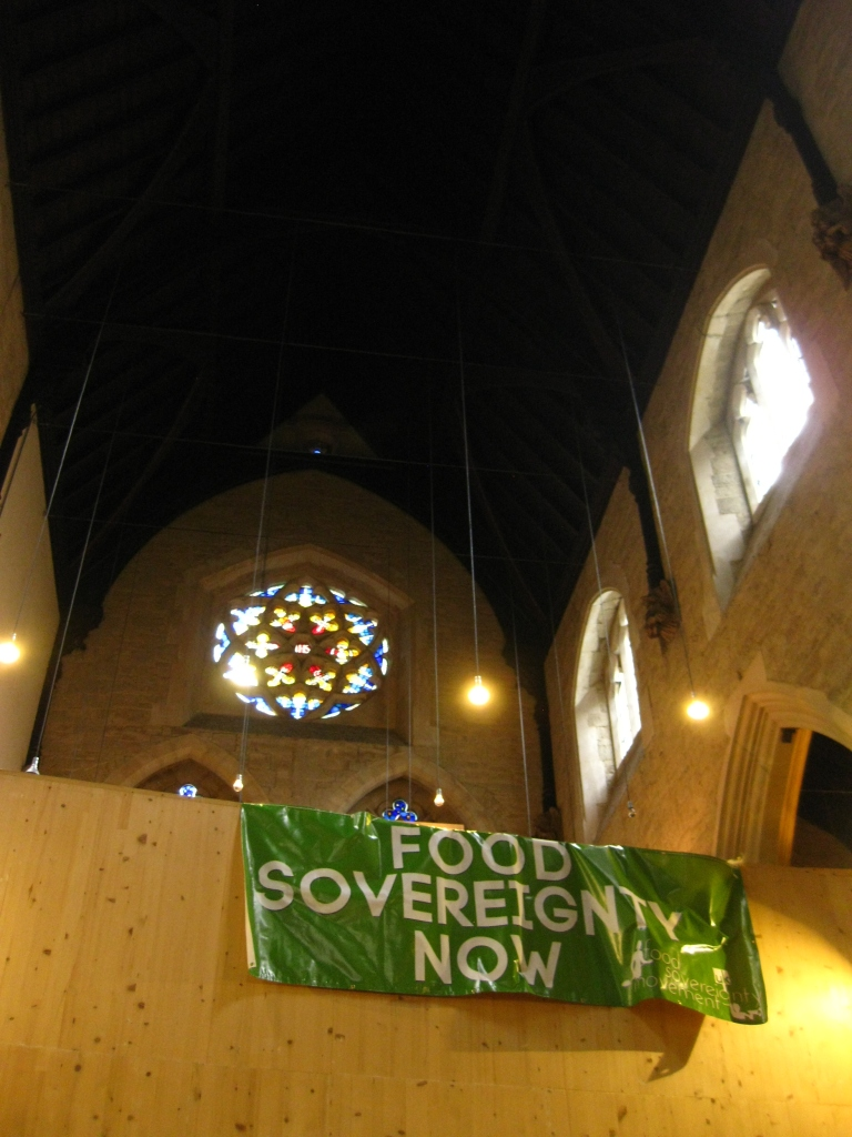 Stained glass and food sovereignty: a beautiful combination